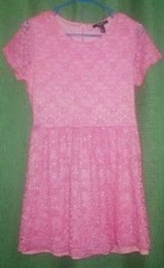 Pink lace dress, Size Large